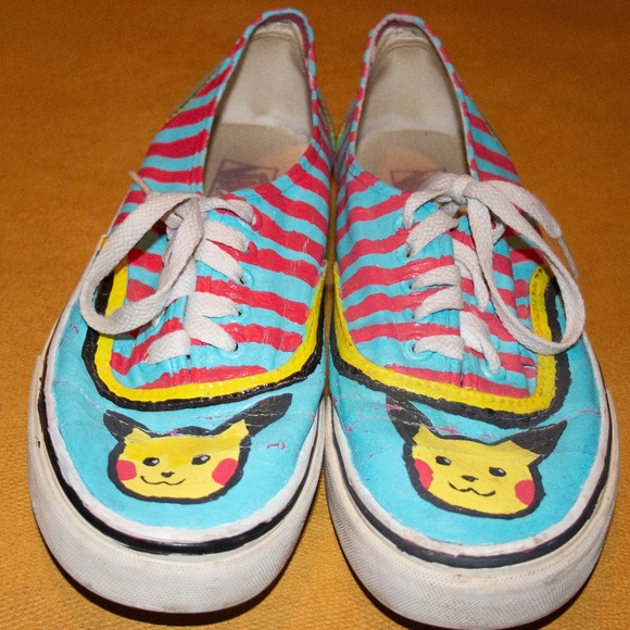 f8b0b05996f9bb Hand painted pikachu pokemon vans mens 7.5 women 9.  M 5b9b14a8819e90e0698c389c